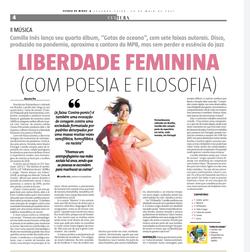 Camilla Ines Estado de Minas - Cultura por Augusto Pio