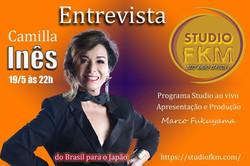 Camilla Ines Studio FKM - Programa Studio ao vivo no Japão