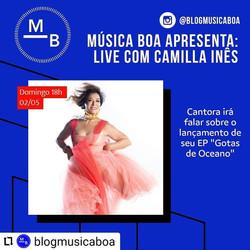Camilla Ines Blog Música Boa por Guilherme Moro