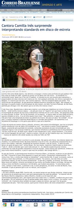 Camilla Ines Jornal Correio Braziliense