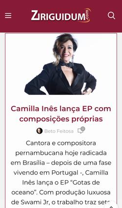 Camilla Ines Ziriguidum por Beto Feitosa