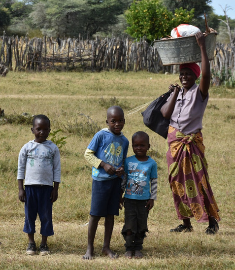 Ngamo family in village