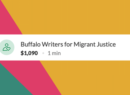 Buffalo Writers Raise $1,090 for Migrant Justice