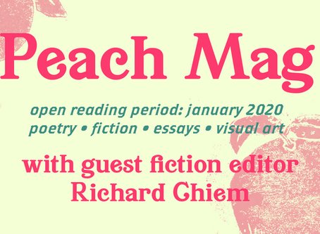 January Open Reading Period ft. Guest Fiction Editor Richard Chiem