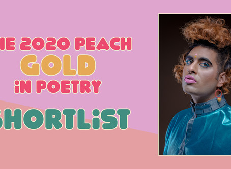 The 2020 Peach Gold in Poetry Shortlist