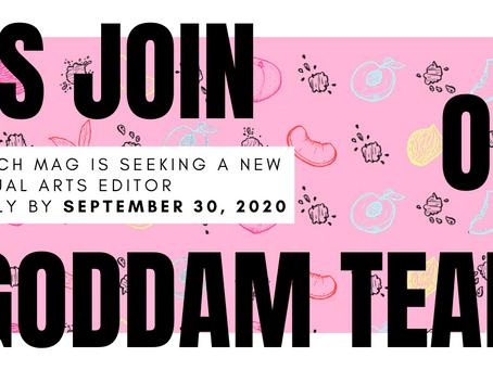 We're Seeking a Visual Arts Editor