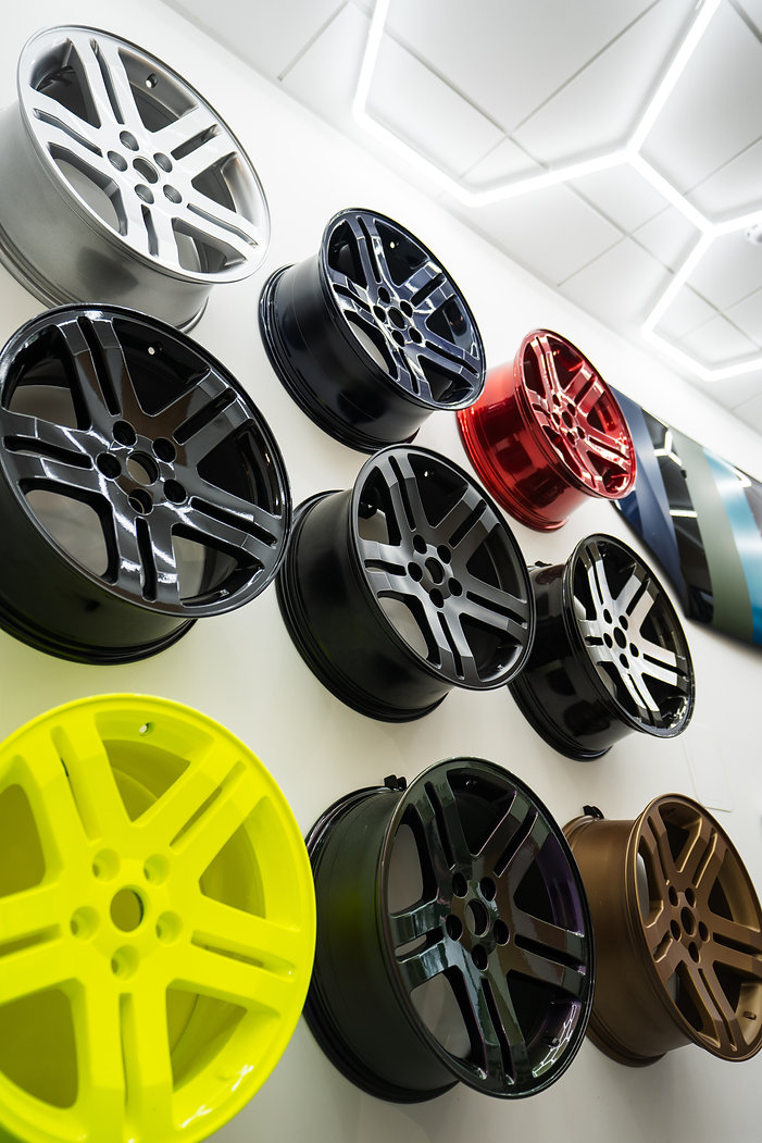 Powdercoating wheels