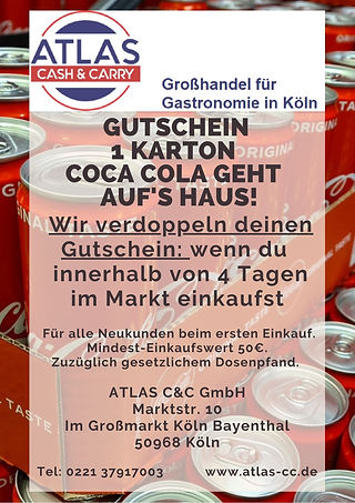 Gutschein 1Karton Coca Cola AtlasCC GmbH