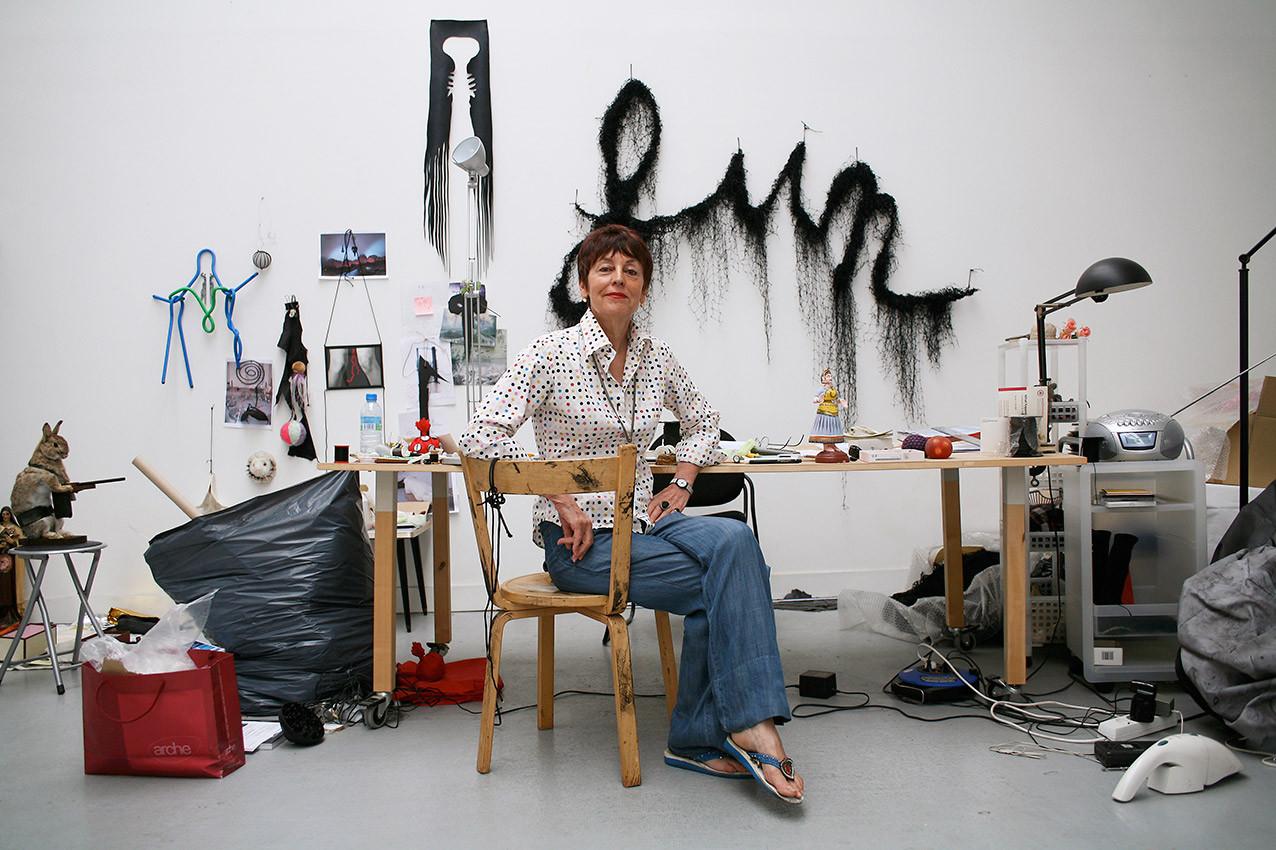 Annette Messager for Paris Match © Jérémie Bouillon