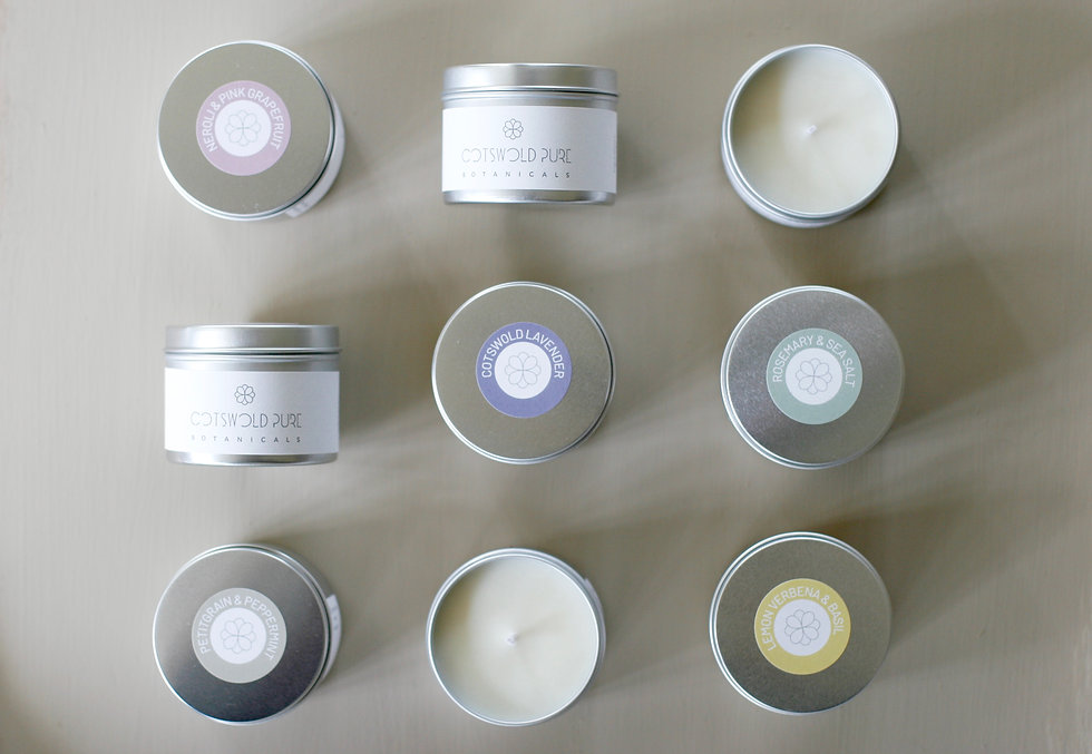 small candle tins