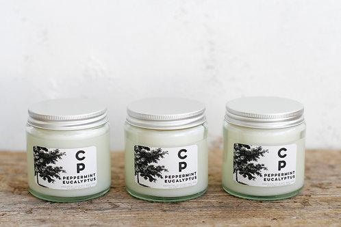 Clear Glass Mandarin Cinnamon and Clove Candle