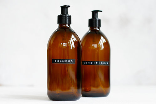 Shampoo and Conditioner Glass Refills