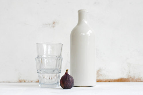 Ceramic refillable water bottle