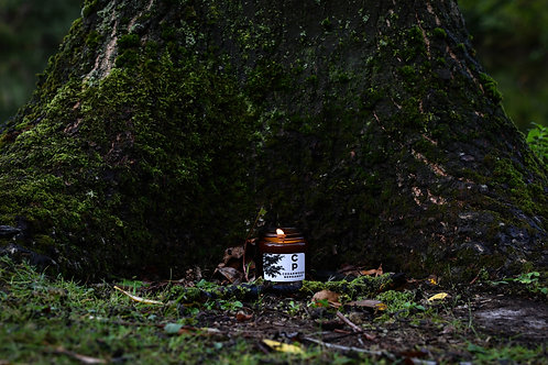 Amber Glass Juniper and Sweet Orange Candle