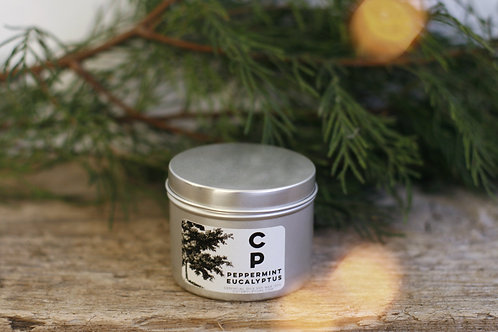 Peppermint Eucalyptus Winter Tin Candle
