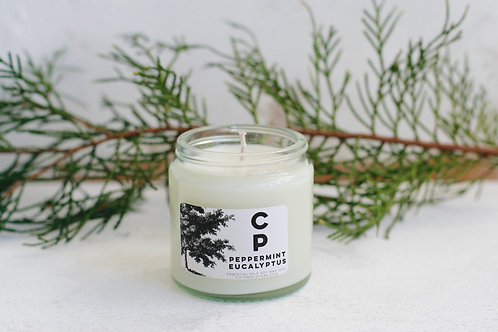 Clear Glass Cedarwood and Bergamot Candle