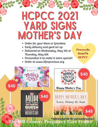 Copy of HCPCC Mother's Day Yard Sign 202