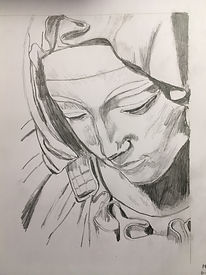 Madonna Face (shading and folds).jpg