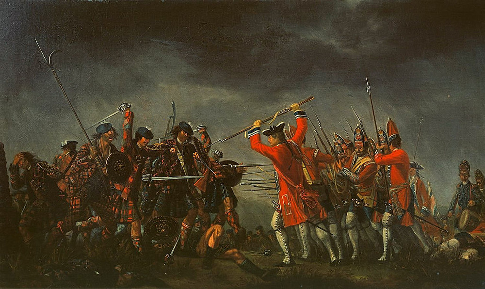 The Battle of Culloden by David Morier (copyright Wikipedia)