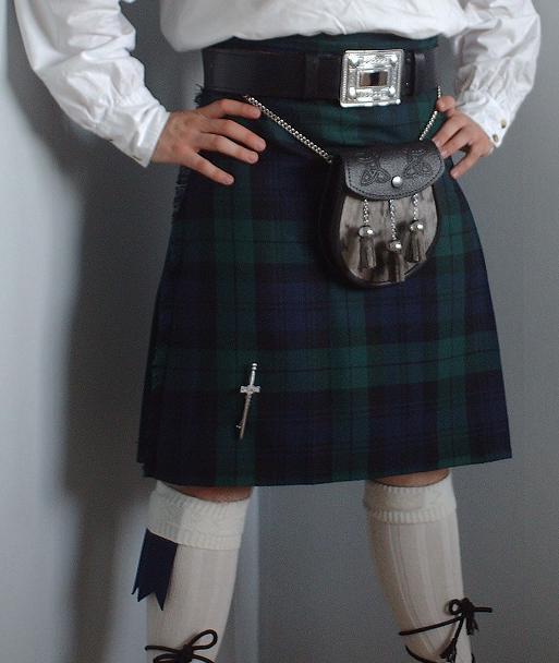 Modern kilt evolutioned for philabeg or little wrap (copyright Wikipedia)