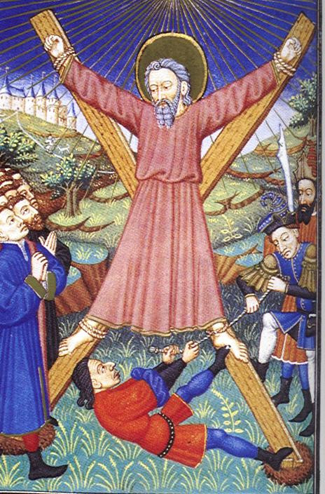 Martyrdom of St Andrew (copyright Wikipedia)