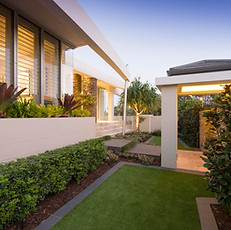 The front garden was designed to be attractive, welcoming and low-maintenance.