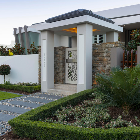 We helped to design an entrance that maximises curb appeal.