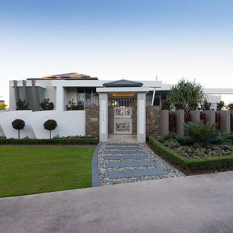 The street frontage was designed to befit an architecturally designed home.