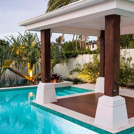 The perfect shady spot for poolside cocktails.
