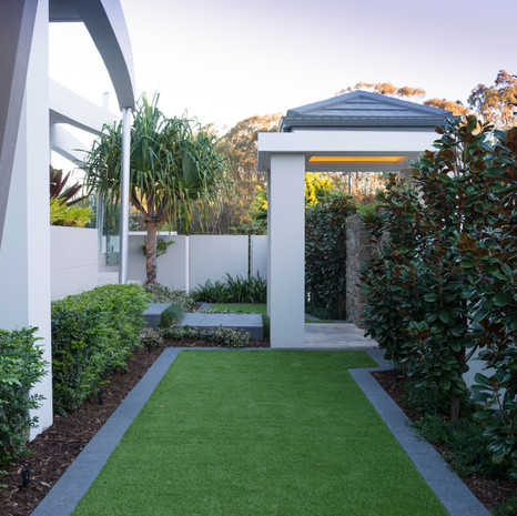 Artificial turf is great for all-year greenery and high traffic areas.