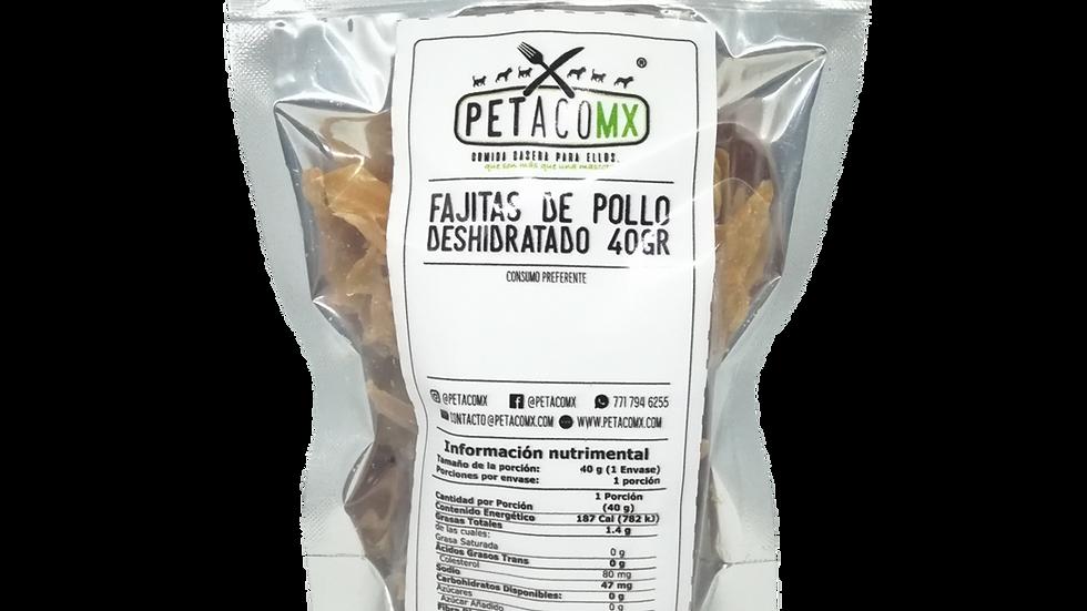 Fajitas de pollo deshidratadas 40 gr