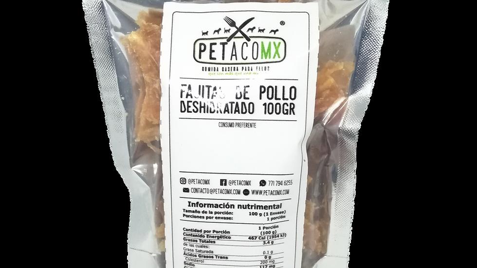 Fajitas de pollo deshidratadas 100 gr