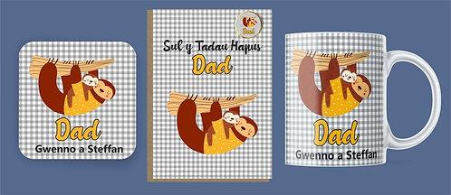 Set 'Dad' (sloth) Sul y Tadau