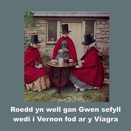 Dyluniad Gwen a Vernon