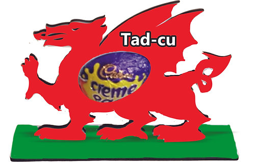 Daliwr wy Pasg draig/ Dragon Easter egg holder