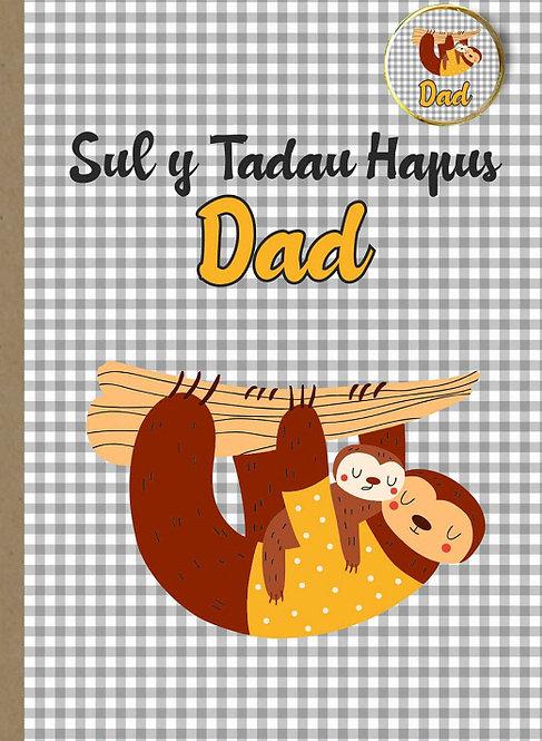 Carden (sloth) Sul yTadau gyda bathodyn