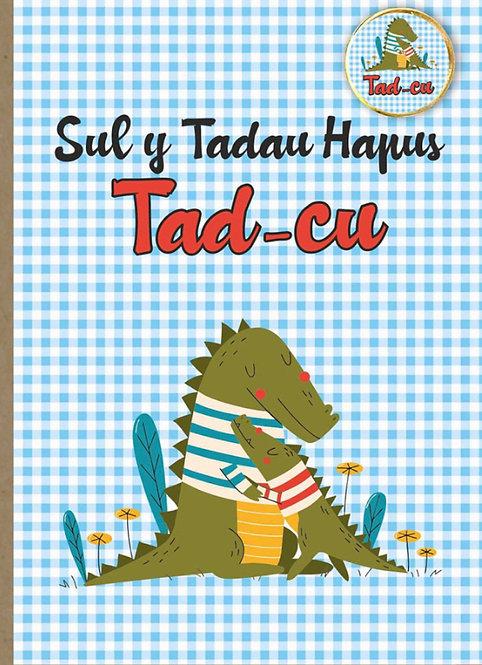 Carden Sut y Tadau 'Tad-cu' gyda bathodyn