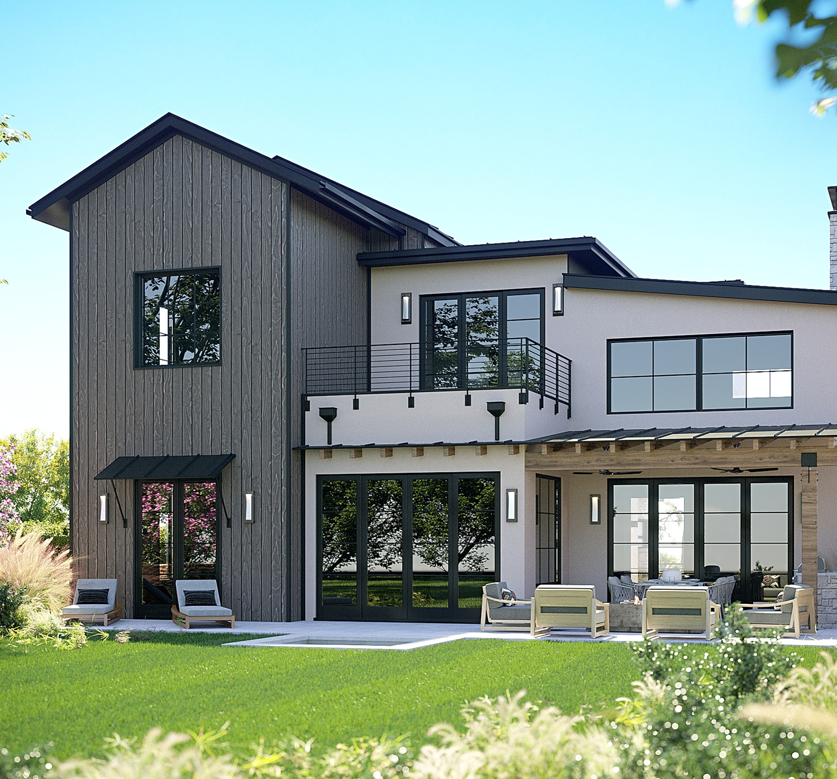 RENDER OF LUXURY RANCH HOUSE