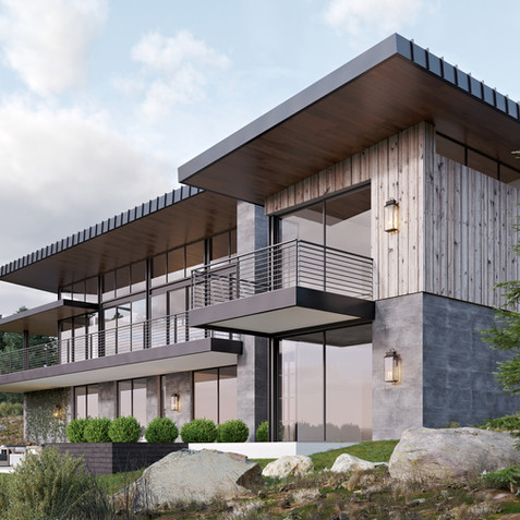 FOREST VILLA WITH A GORGEOUS VIEW RENDERING