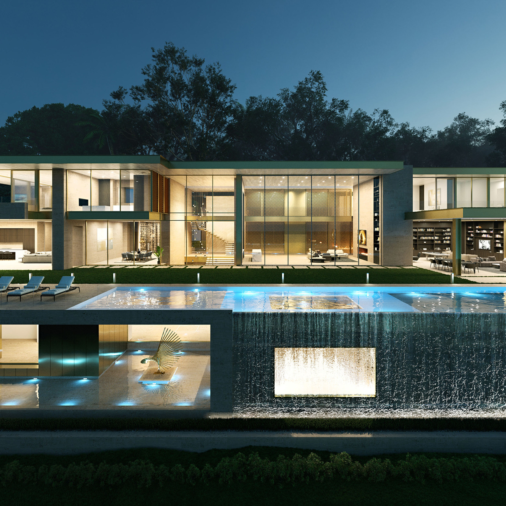 LUXURY VILLA NIGHT VISUALIZATION
