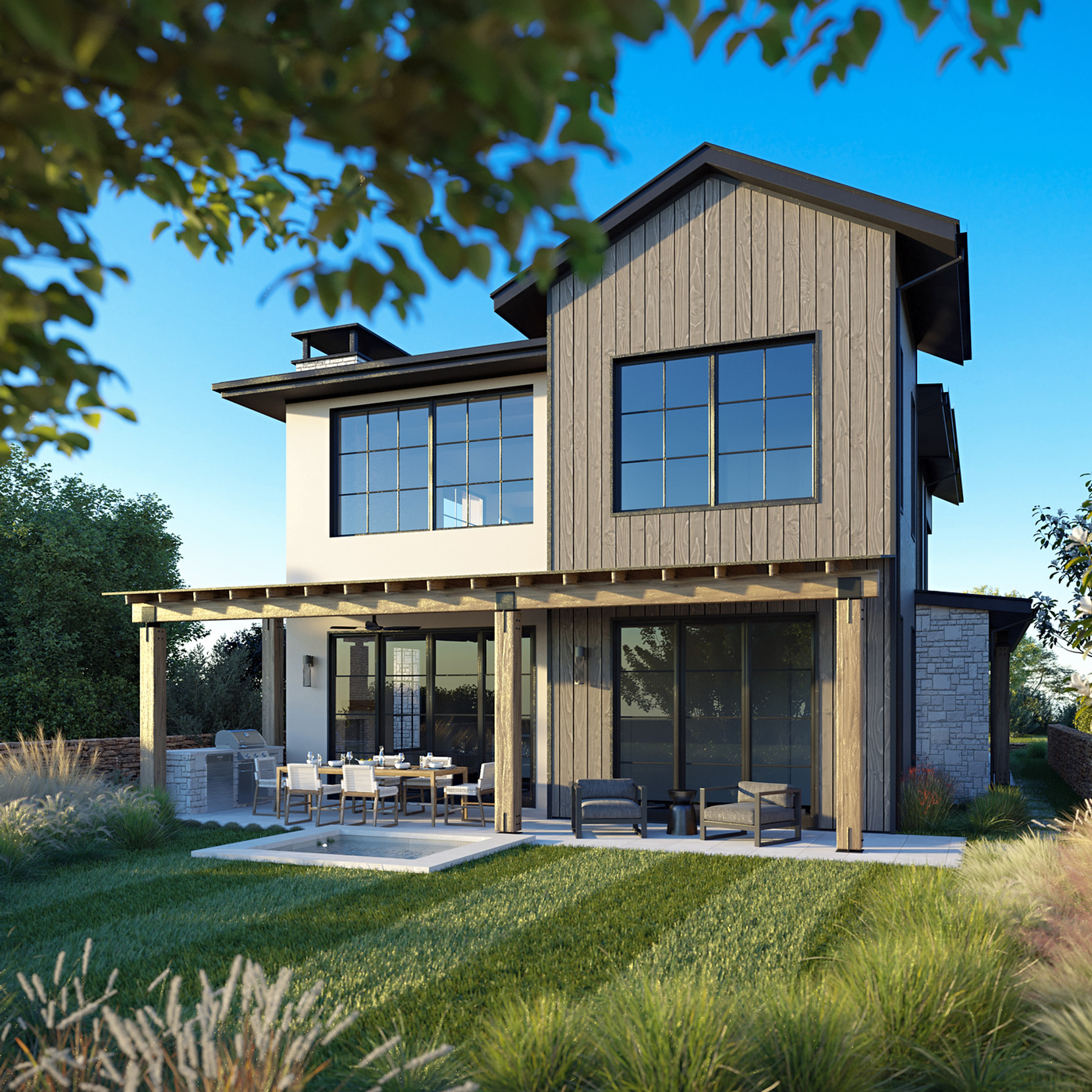 RENDER OF RANCH HOUSE