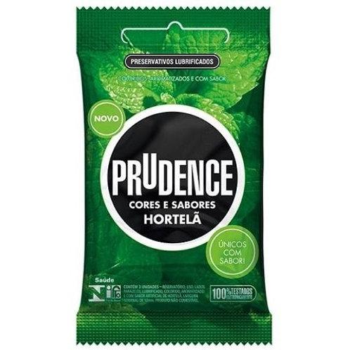 Preservativo Prudence Cores e Sabores Hortelã c/3un
