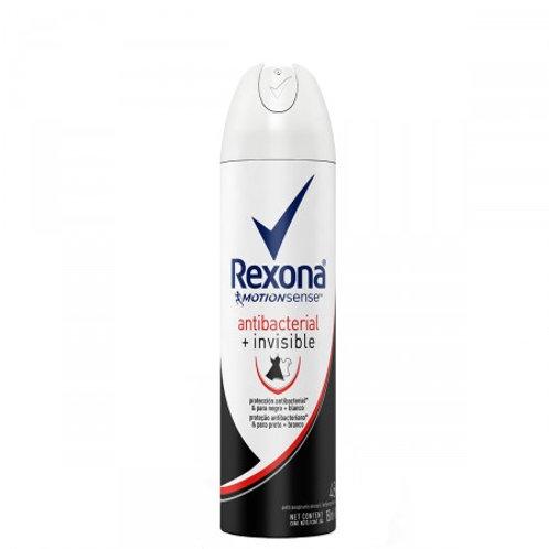 Desodorante Aerosol Rexona Antibacterial Invisible Feminino 150ml