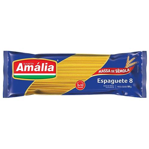 Macarrão Santa Amália Semola 500g Espaguete 8