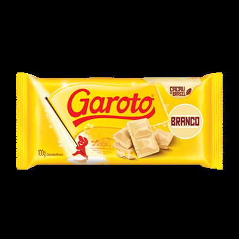 Chocolate em Barra GAROTO Branco 100g