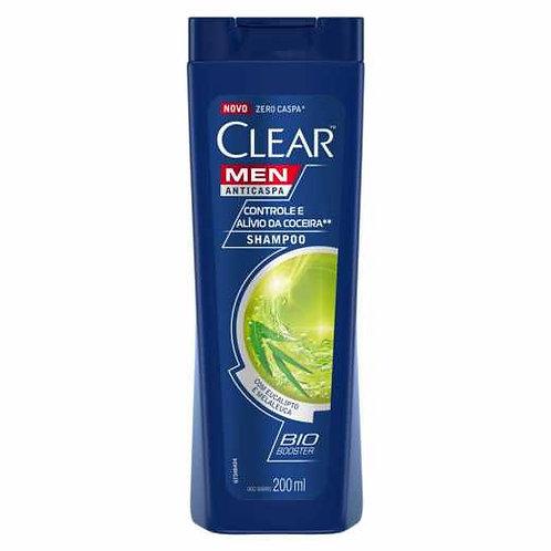 Shampoo Anticaspa Clear Men Controle e Alivio da Coceira 200mL