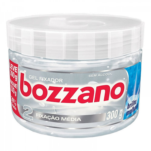 Gel Fixador Bozzano Incolor 2 Fixação Média 300g
