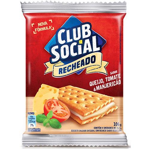 Biscoito Club Social Recheado Queijo, Tomate E Manjericão 106 G
