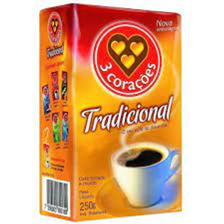 Café 3 Coraçoes Tradicional Vácuo 250g