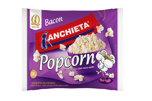 Pipoca Microondas  Anchieta Bacon 100g